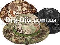 Шляпа камуфляжная зеленая