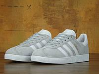 Женские кроссовки Adidas Gazelle (light grey) 37 (реплика)