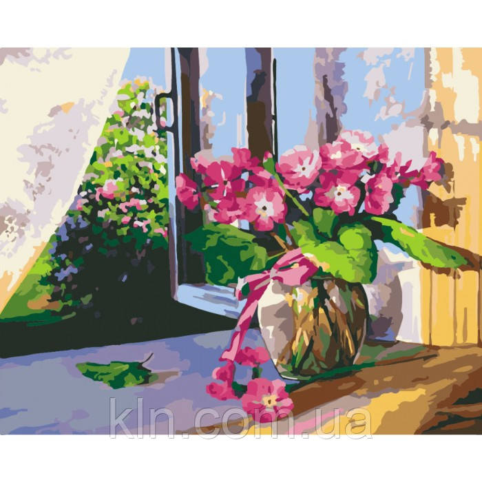 Картина по номерам Набор БЕЗ КРАСОК! Летнее утро у окна 40 х 50 см (КН2929)