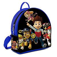 Синий детский рюкзак с принтом Щенячий патруль