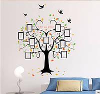 """Наклейка на стену, украшения стены наклейки  """"фотодерево с птицами"""" Высота 2метра*160см (2листа 60*90см)"""