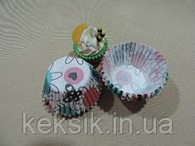 Тарталетки mini с рисунком 100шт бабочка