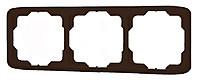 Рамка 3 поста горизонтальная ABB Tango Табакко (3901A-B30 H)