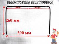 Уплотнение для дверей духовки Гефест 390X260 мм (39*26 см), толщина 7 мм П-образный с зажимом посередине