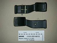 Педаль тормоза н/о с накладкой и пальцами в сборе (АТ), 5320-3514012