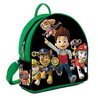 Зеленый детский рюкзак с принтом Щенячий патруль