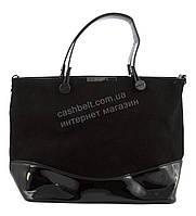 Интересная оригинальная стильнаяженская сумочка с замшевой лицевой частью SOFIYAart. SF-5171 черная