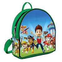 Зеленый детский рюкзак с рисунком Щенячий патруль