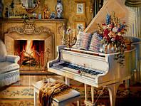Картины по номерам 40 х 50 см. Белый рояль.