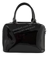 Интересная небольшая стильная каркасная лаковая женская сумочка art. 8812черная