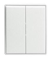Клавиша двойная T/E ABB Time Белый/Белый (3558E-A00652 03)