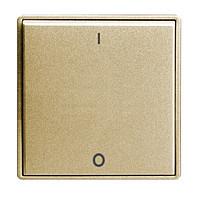 Клавиша одинарная 2-х полюсного выключателя ABB Time Шампань Металлик (3558E-A00655 33)