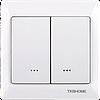Двухклавишный Z-Wave выключатель TKBhome — TKB_TZ66-D