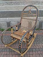 Плетеная кресло-качалка из лозы+ротанг