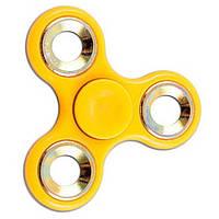 Спиннер Tri Fidget (Желто-белый) Игрушка антистресс
