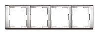 Рамка 4 поста горизонтальная ABB Time Титан (3901F-A00140 08)
