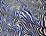 """Трикотажное полотно сингл джерси """"Синяя зебра на фоне пудры"""", фото 3"""