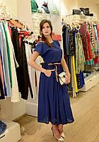 Женское платье синее летнее миди Италия