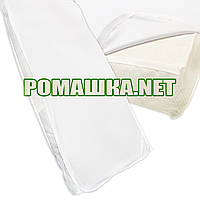 Непромокаемый наматрасник - поверхность для детского матраса 120х60 махровый с резинками 3736 Белый, фото 1