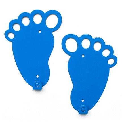 Вешалка настенная парная Glozis Feet Blue H-045, фото 2