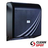Диспенсер паперових рушників в листах пластиковий чорний WinPak Black 300