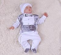 Нарядный комплект на мальчика на крестины Фрак (0-6 мес)