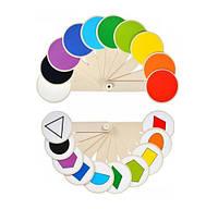 """Веер Атлас """"Геометричні фігури та кольори"""" К-5375"""