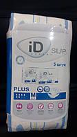 Памперсы  (подгузники) для взрослых ID Slip Plus М, 5 шт , (Чехия)