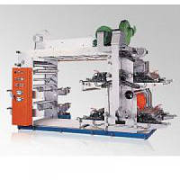 Четырехцветная флексографическая печатная машина