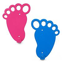 Вешалка настенная парная Glozis Feet Blue and Pink H-047