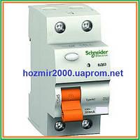 Дифференциальный выключатель (УЗО) Schneider Electric ВД63 2П 63A 30МA