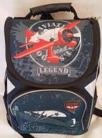 Рюкзак ортопедический для мальчиков Самолет, серый
