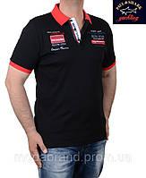 Футболка мужская стильная Paul Shark-024 черная