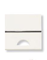 Кнопка с окошком для шильдика ABB Zenit Белый (N2201.9 BL)