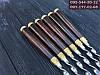 Шампур ручной работы с деревянной ручкой и бронзовыми вставками (шампура)