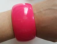 Модний,стильний,яскравий широкий рожевий браслет, фото 1