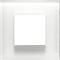 Рамка 1 пост ABB Zenit Стекло Белое (N2271 CB)