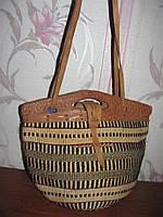 Шикарная сумка корзинка ручная работа