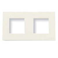 Рамка 2 поста ABB Zenit Белый (N2272 BL)