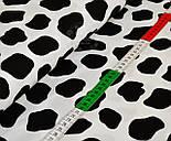 Трикотажное полотно сингл джерси с черными пятнышками на белом фоне (Польша), фото 3