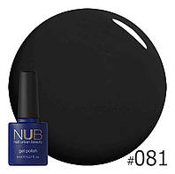 Гель-лак NUB (США) BACK TO BLACK 081  8ml