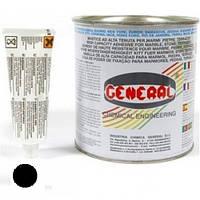 Полиэфирный клей GENERAL VERTICALE nero 1L (черный 1.7кг)
