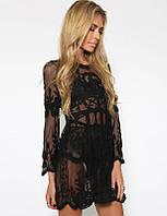 Парео-платье кружевное