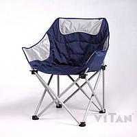 Крісло «Ракушка» сіро-синій