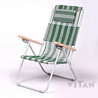 Кресло-шезлонг «Ясень» зеленый, фото 1