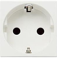 Розетка с заземлением и безвинтовыми контактами со шторками ABB Zenit Белая (N2288.6 BL)