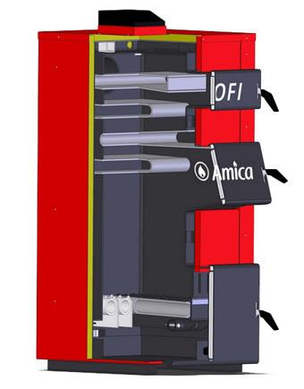 Твердотопливный котел Amica Profi (18-120 кВт)
