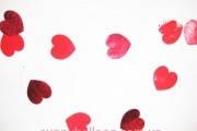 "Набор Гирлянд 6 шт. ""Сердце красное"" 1,8 м. Размер сердец 9*9 см"