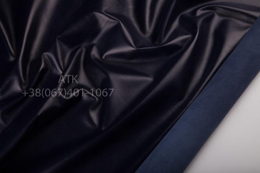 Кожа одежная наппа фиолетовая/синяя ночь