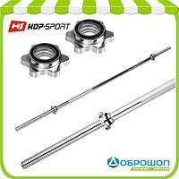 Гриф для штанги Hop-Sport 180см (30мм)